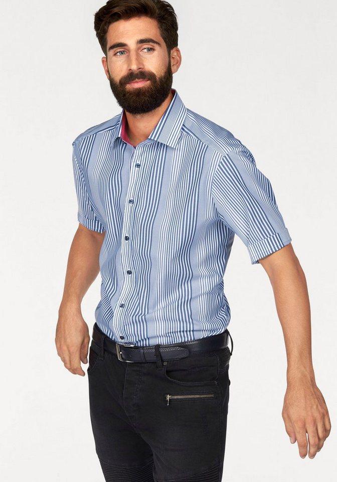 Bruno Banani Businesshemd in blau-weiß-gestreift