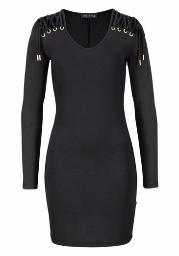 Melrose Jersey Dress, With Lace