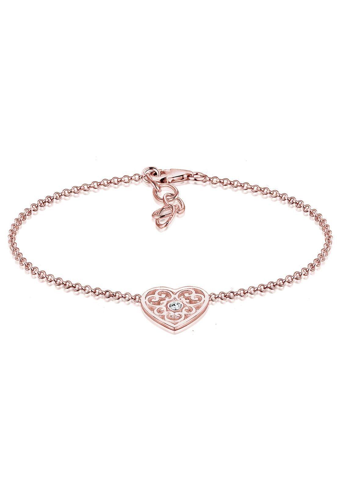 Elli Armband »Herz, 0203161516«, mit Swarovski® Kristall