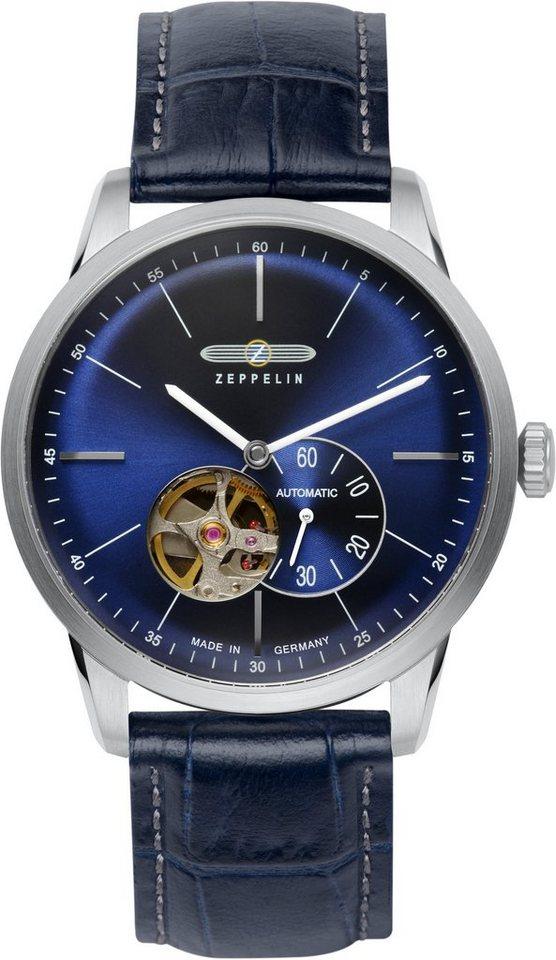 ZEPPELIN Automatikuhr »Flatline, 7364-3« Made in Germany in blau