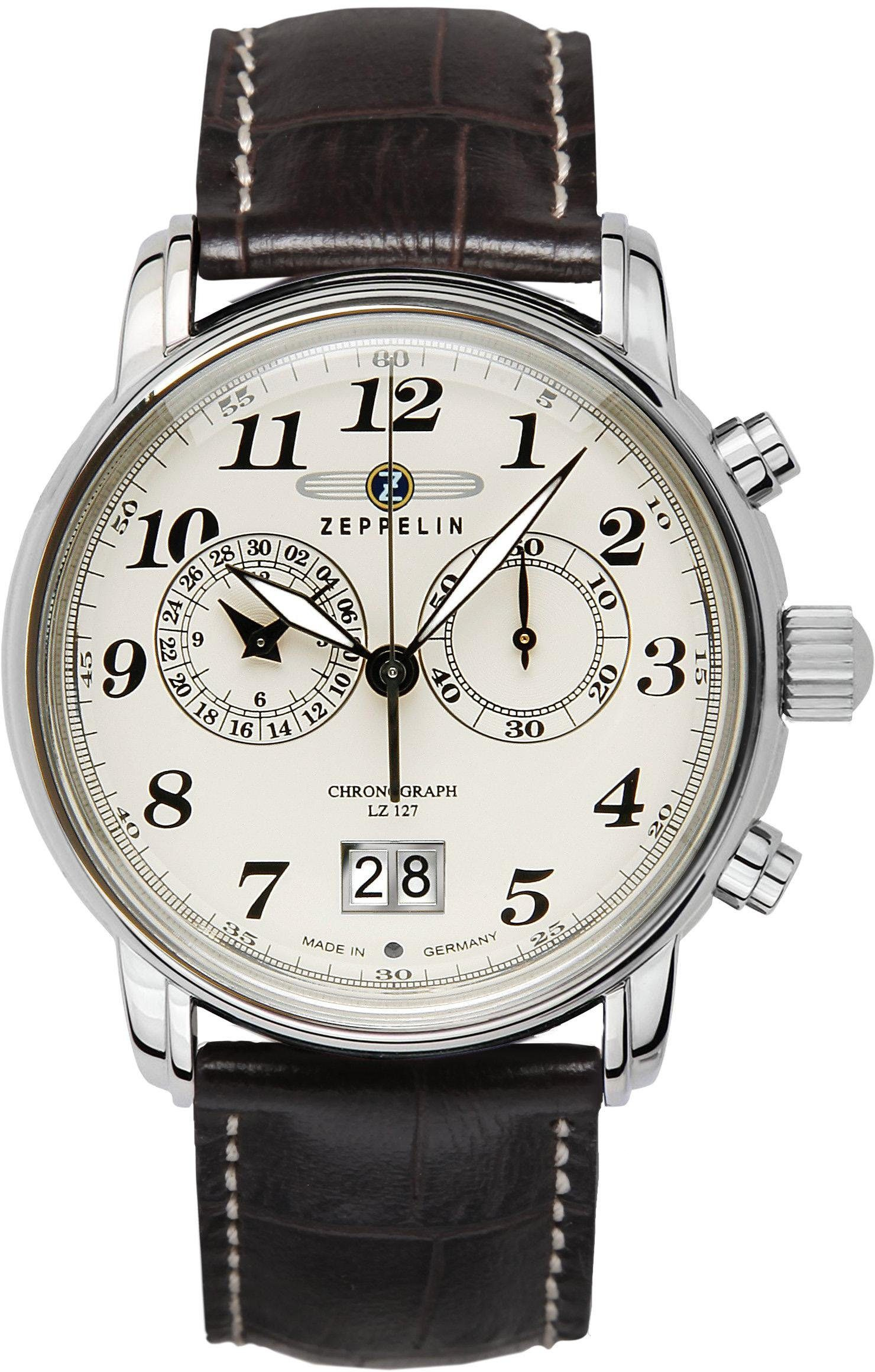 ZEPPELIN Chronograph »Graf Zeppelin, 7684-5«, Made in Germany