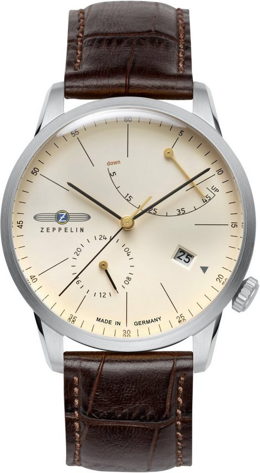 ZEPPELIN Automatikuhr »Flatline, 7366-5« Made in Germany in braun