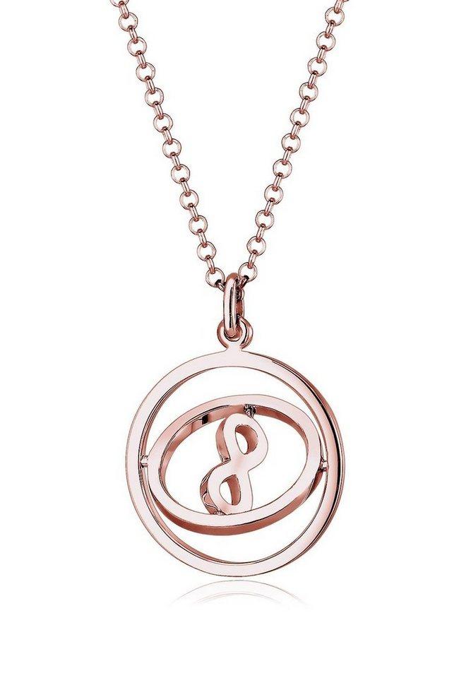 Elli Kette mit Anhänger »Infinity Unendlichkeit rotierend, 0105521016« in Silber 925-roségoldfarben