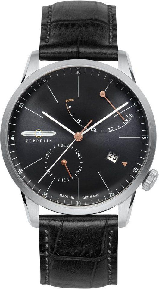 ZEPPELIN Automatikuhr »Flatline, 7366-2« Made in Germany in schwarz