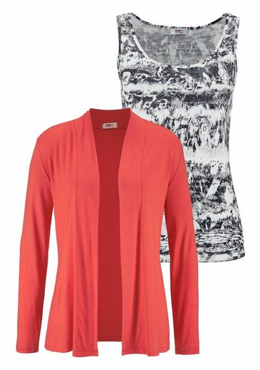 Flashlights Shirtjacke (Set, mit Top), aus weich fließender Jerseyware