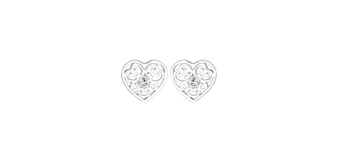 Elli Paar Ohrstecker »Herz, 0306361516« mit Swarovski® Kristallen