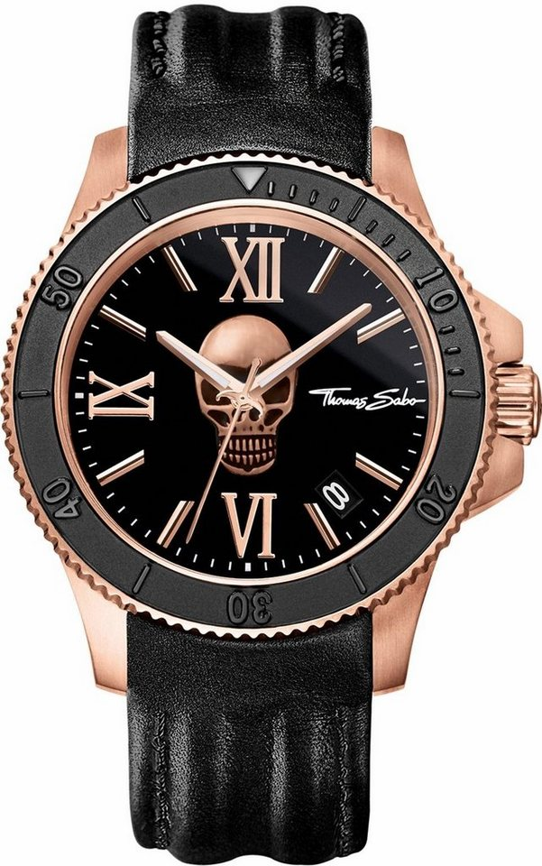 Thomas Sabo Quarzuhr »REBEL ICON, WA0279« in schwarz