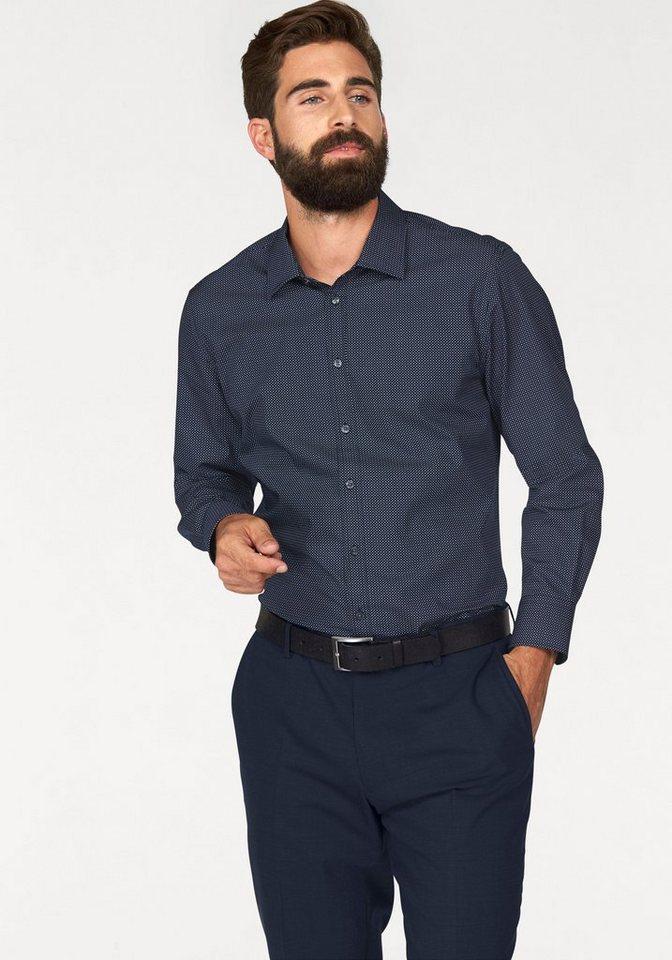 Bruno Banani Businesshemd in navy-grau-Minimalmuster