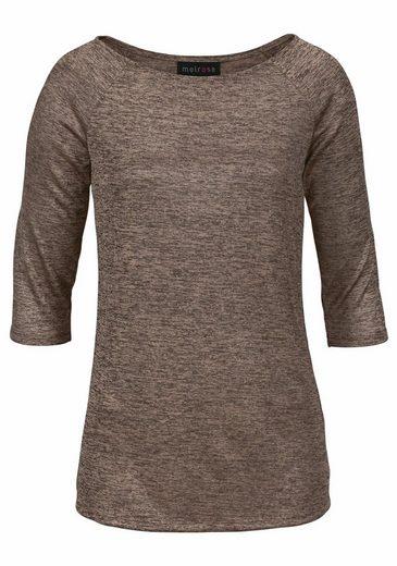 Melrose 3/4-Arm-Shirt, mit leichtem Glanz