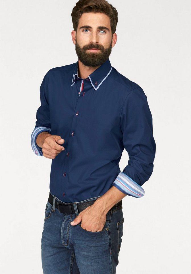 Olymp Businesshemd »Level 5, body fit« in nachtblau