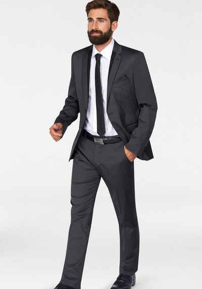 Anzug slim fit schwarz