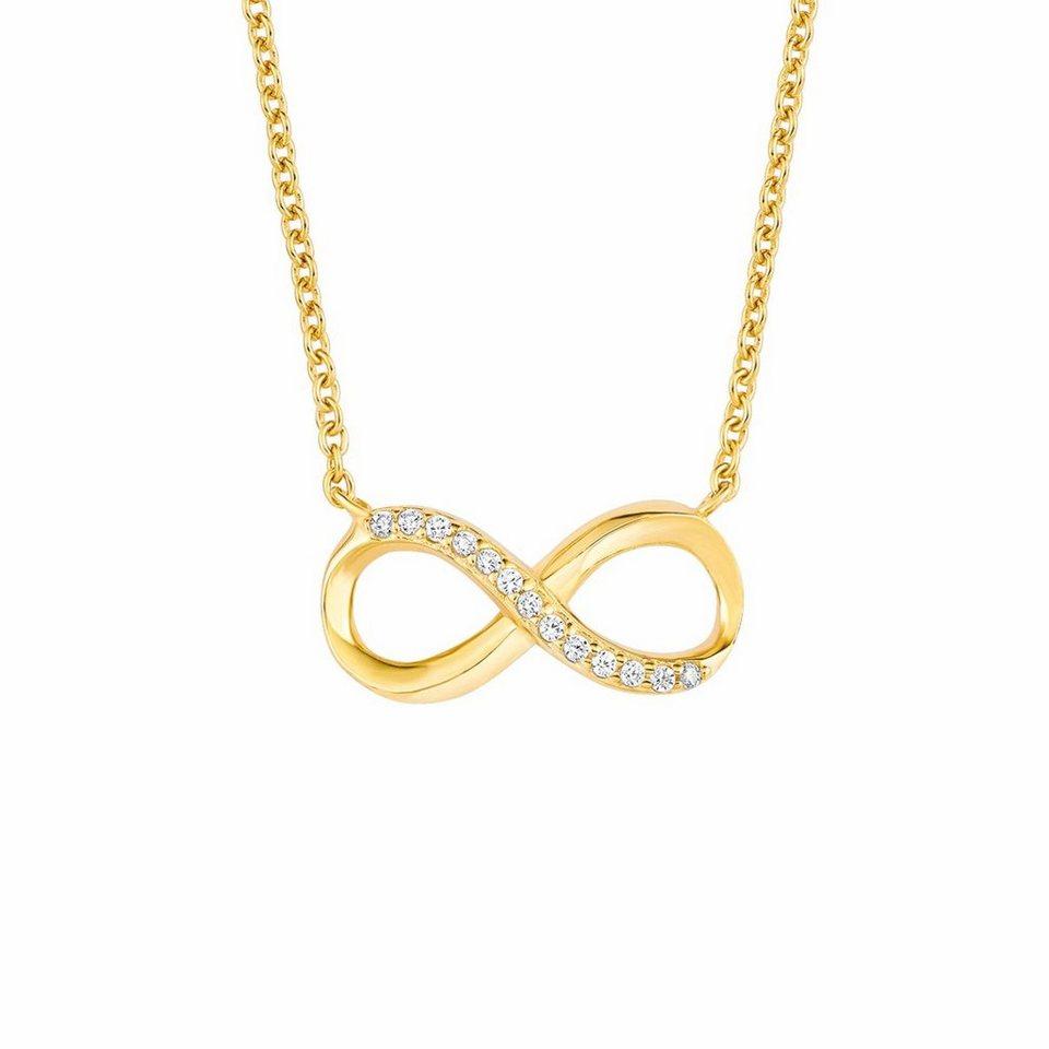 Amor Kette mit Anhänger »Unendlichkeit - Infinity, E105/9 571036« mit Zirkonia in Silber 925-goldfarben