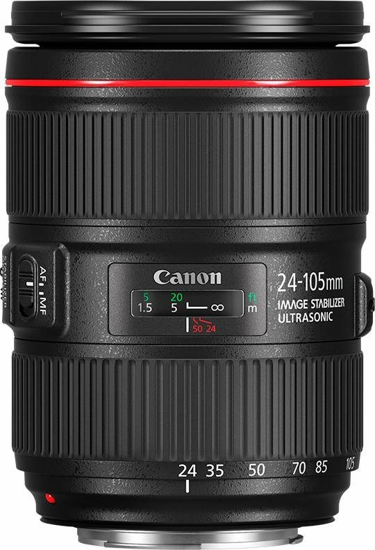 Canon EF 24-105mm 1:4L IS II USM Standardzoom Objektiv in schwarz