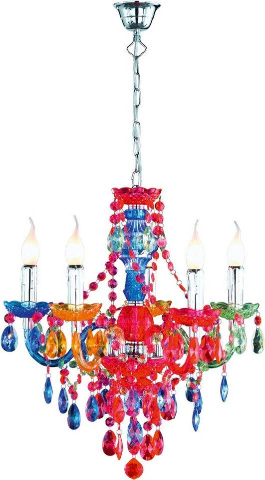 Kronleuchter Farbig trio leuchten kronleuchter lüster 5 flammig brennstellen in