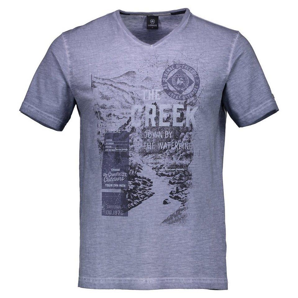 LERROS T-Shirt mit V-Ausschnitt in COBALT