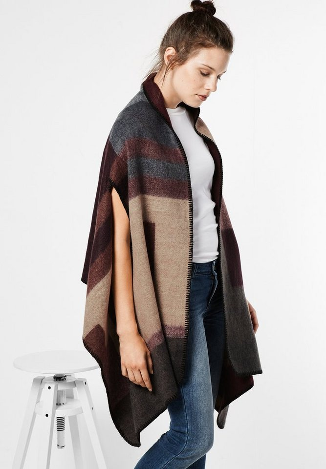Street One Poncho Flavia in nougat camel