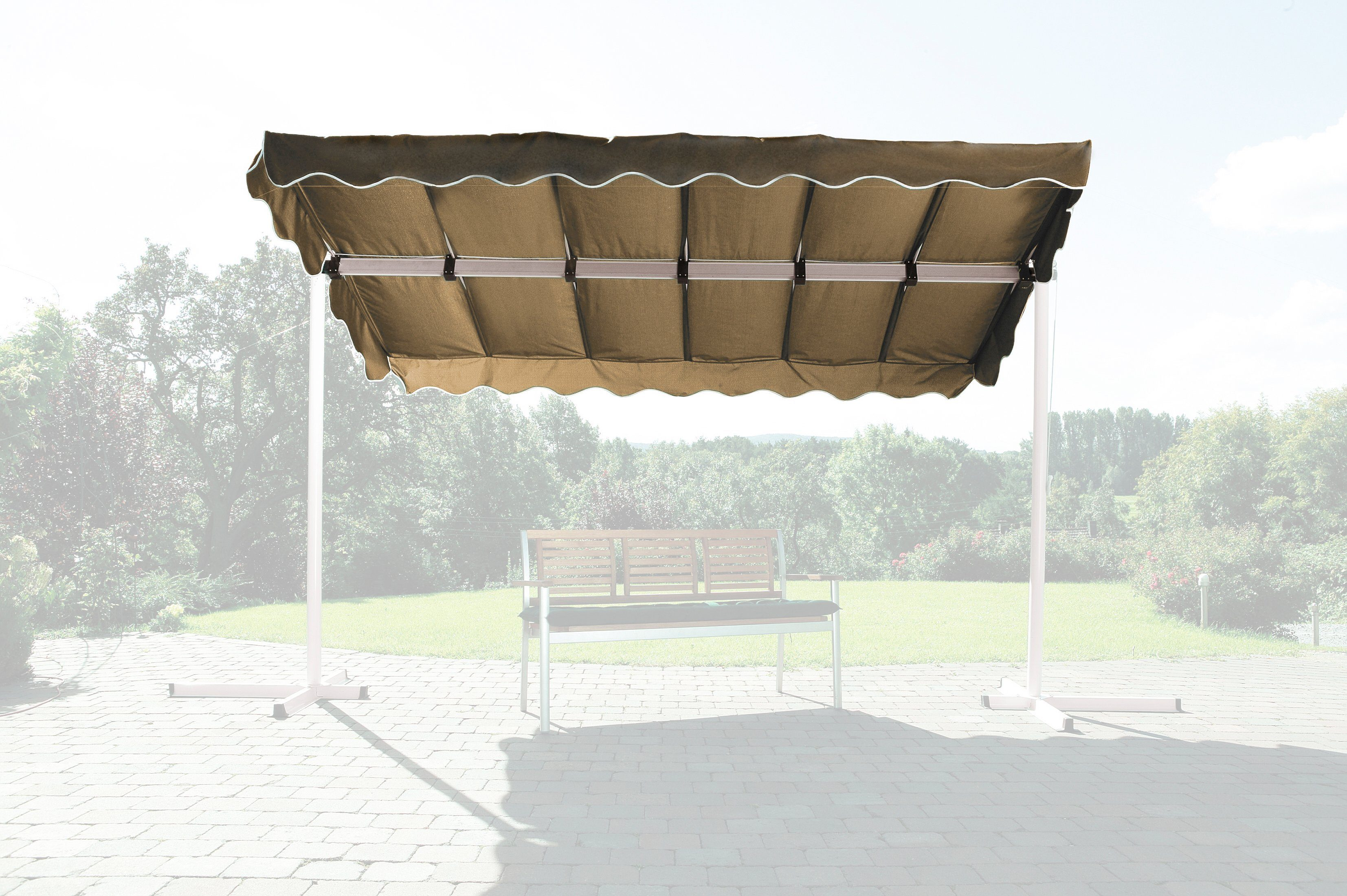 Grasekamp Ersatzdach »Raffmarkise Dubai, taupe«