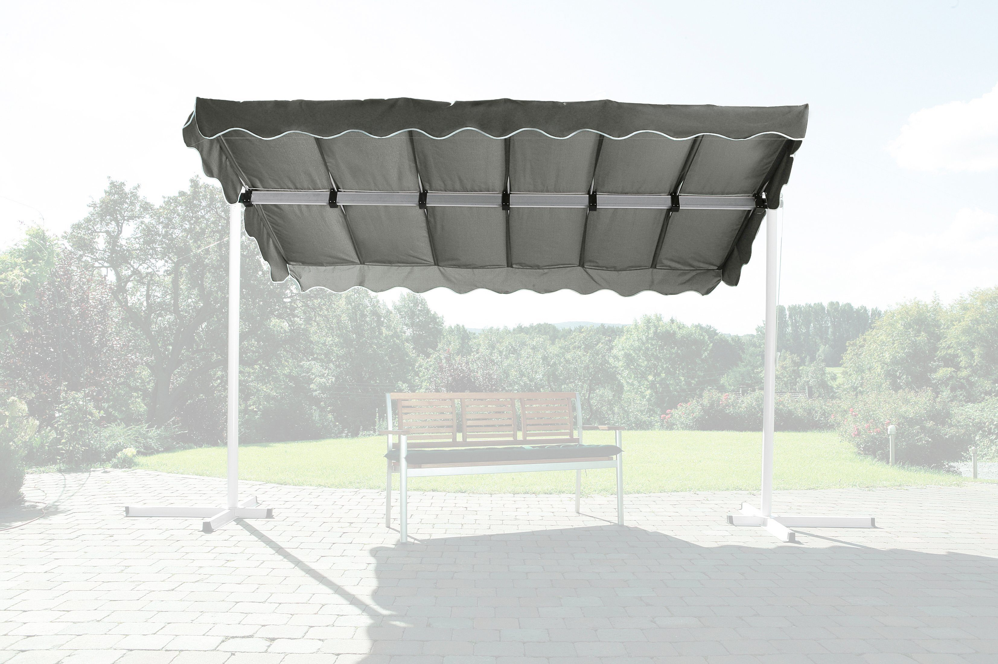 Ersatzdach »Raffmarkise Dubai, grau«