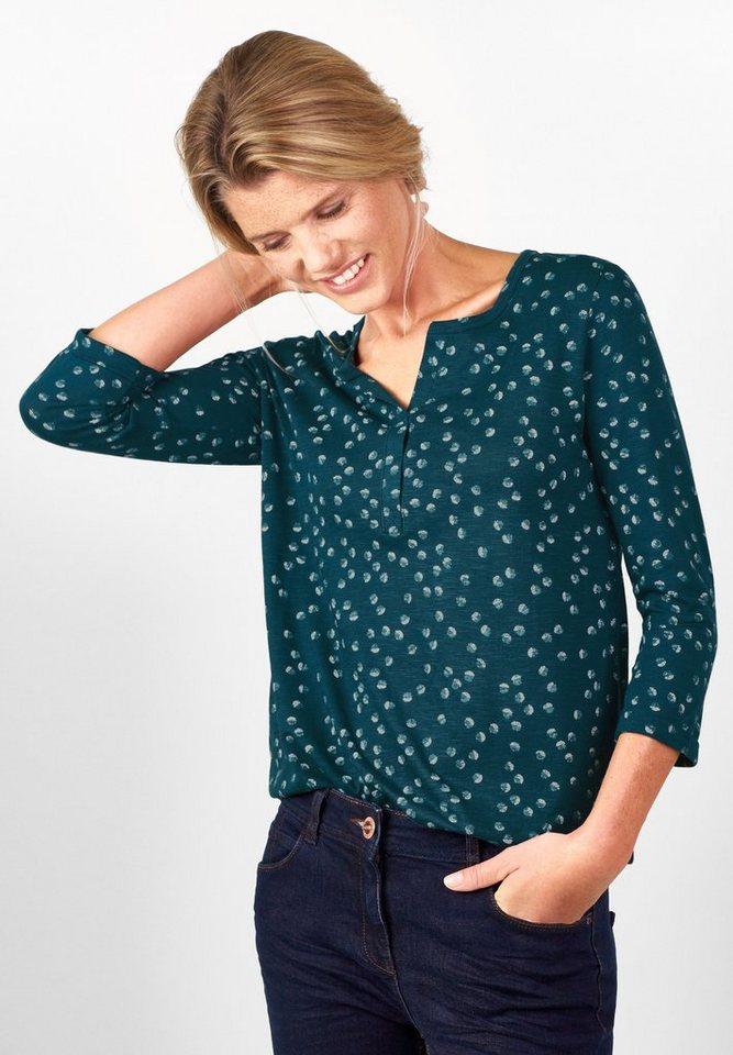 CECIL Shirt mit Punkten Alice in dusk blue