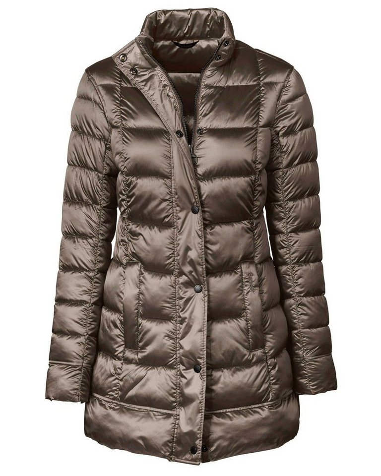 Barbour Steppmantel Clyde Long in Taupe