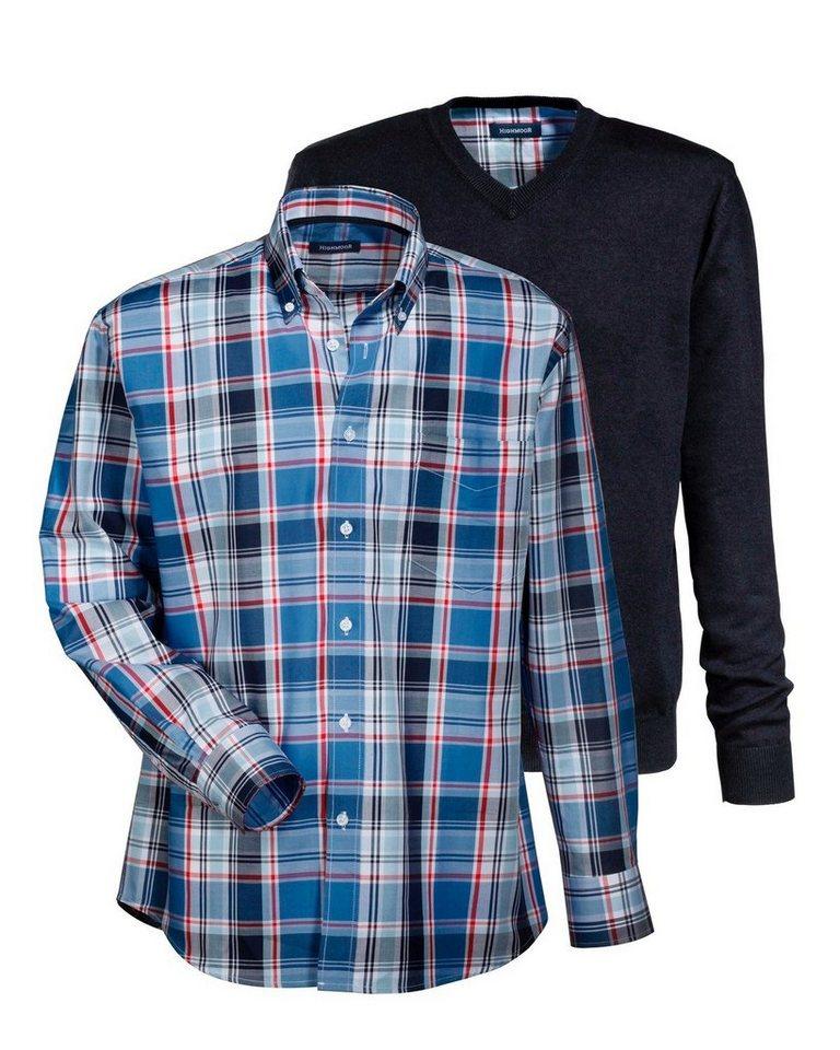 Highmoor Set Pullover mit Hemd in Marine