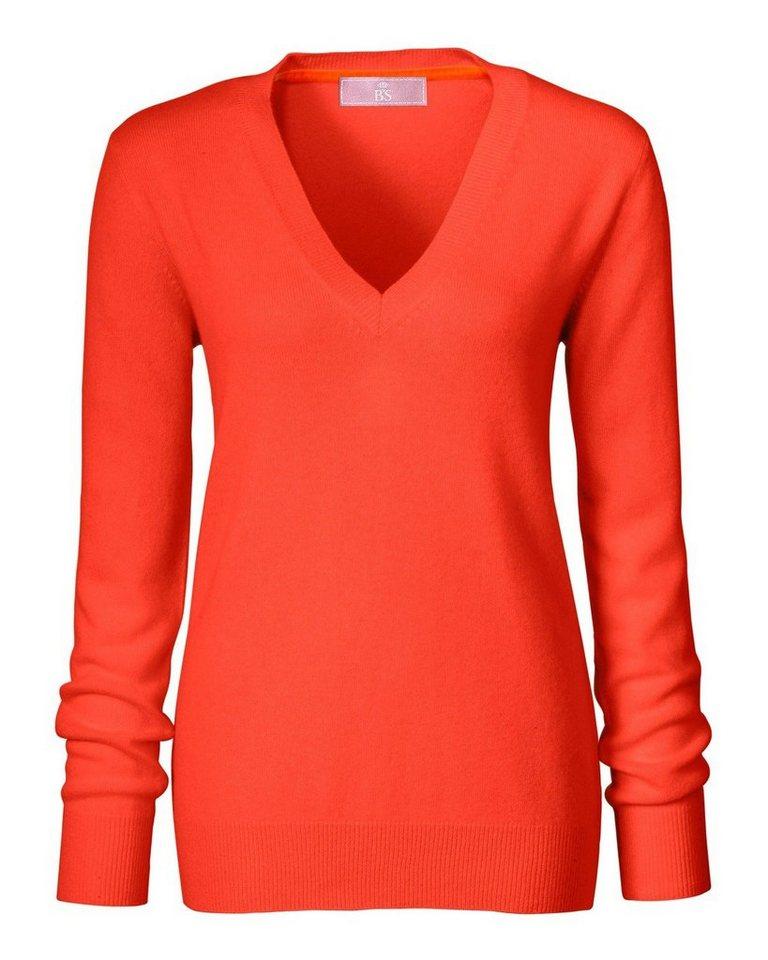 Brigitte von Schönfels Cashmere V-Pullover in Orange