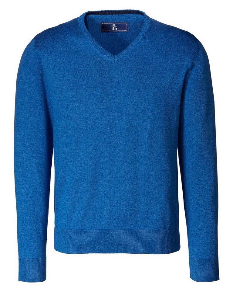 B. von Schönfels V-Pullover in Blau