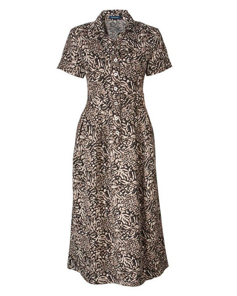 Highmoor Kleid in Dunkelbraun/Natur