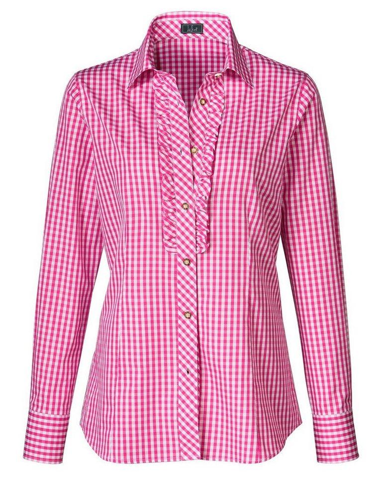 Luis Steindl Vichybluse in Pink/Weiß