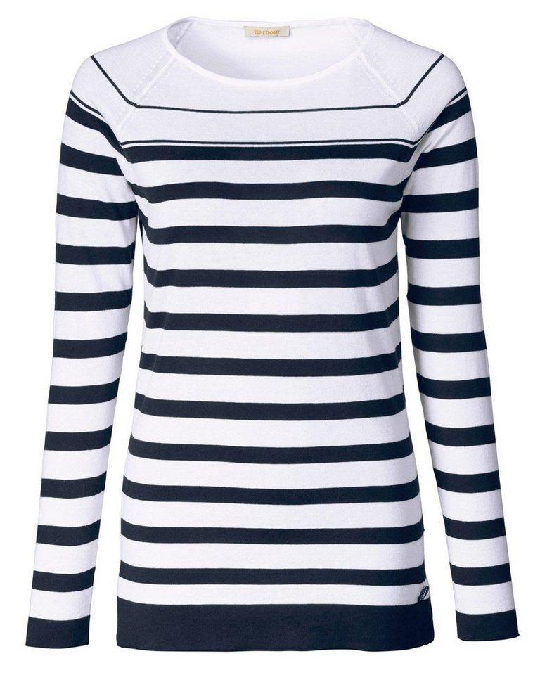 Barbour Pullover Chock Striped in Blau/Weiß