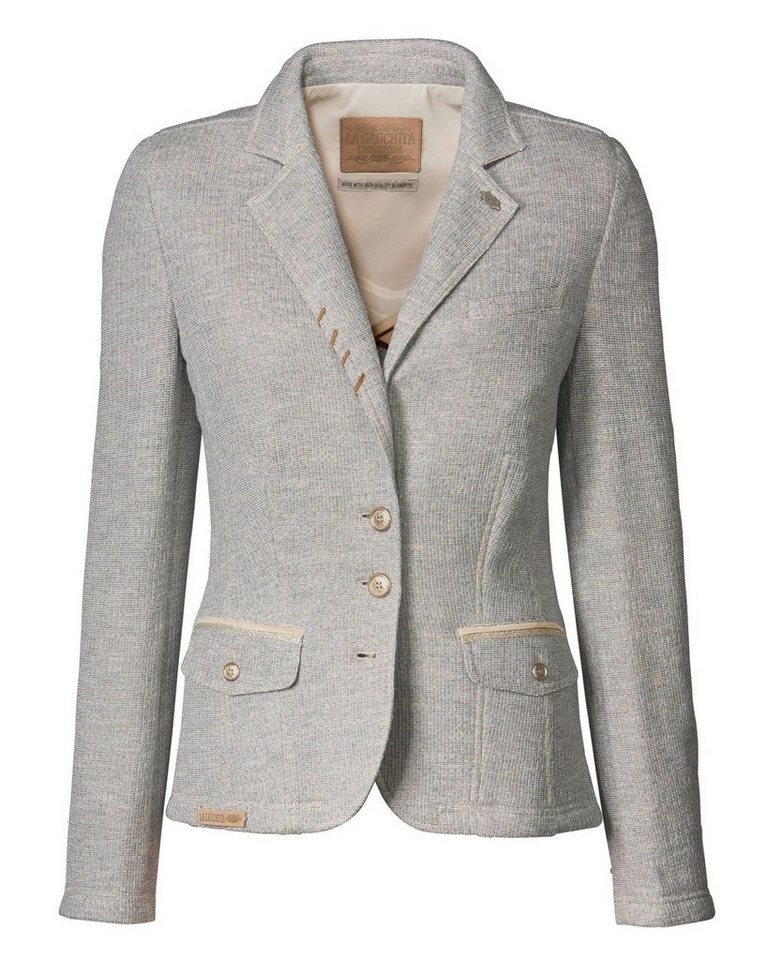 L' Argentina Strickblazer in Grau