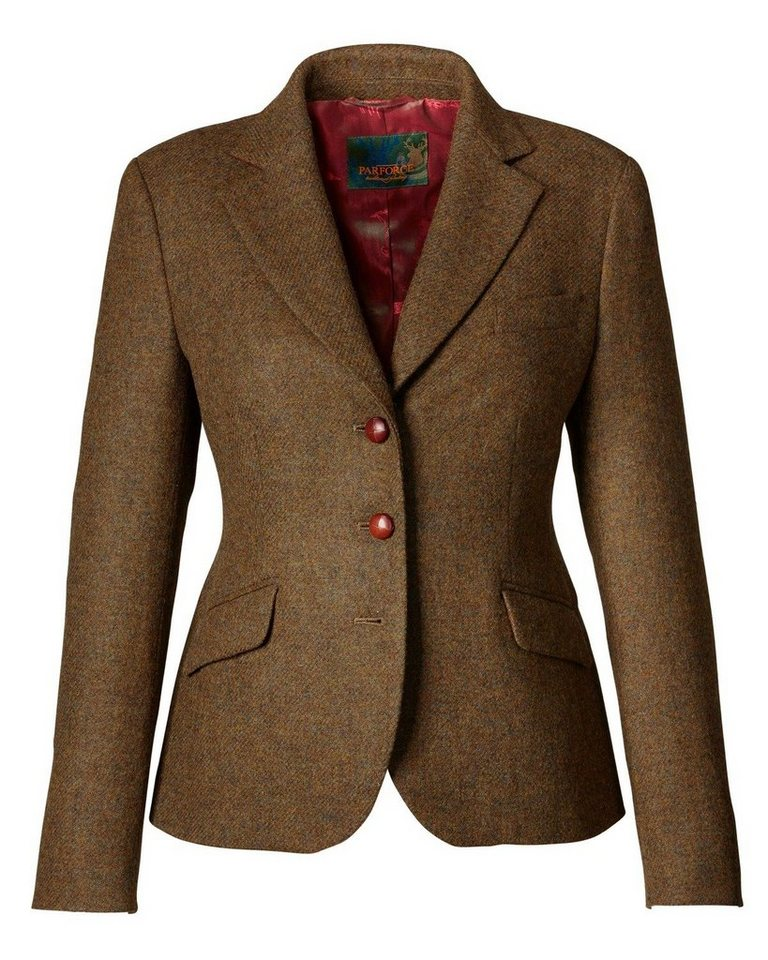 Parforce Traditional Hunting Tweedblazer in Grün/Braun