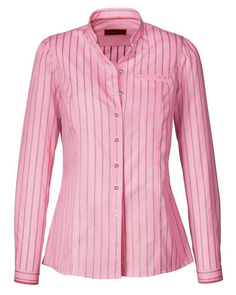 Reitmayer Vichykaro-Bluse in Rosé