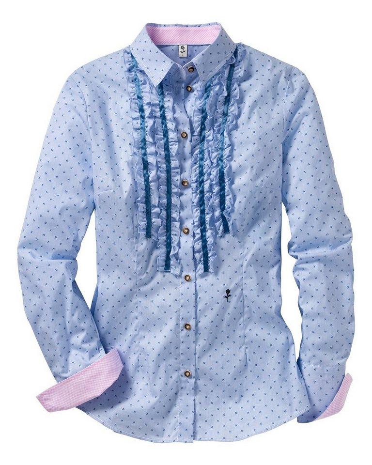 Seidensticker Bluse in Blau/Weiß