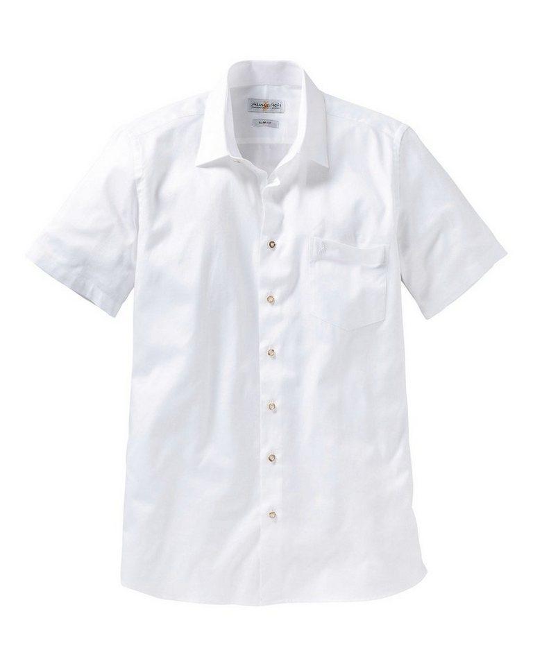 Almsach Hemd Slim in Weiß