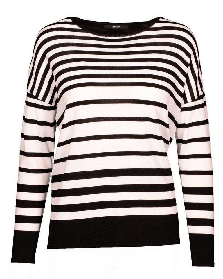 Clarina Pullover in Schwarz/Weiß