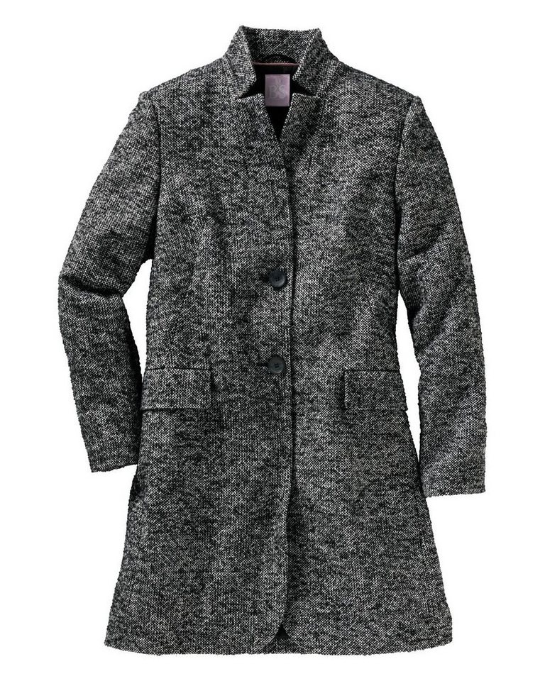 Brigitte von Schönfels Tweed-Kurzmantel in Schwarz/Weiß