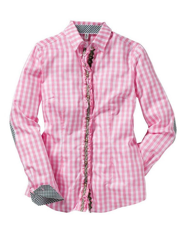 Seidensticker Karobluse in Pink/Weiß