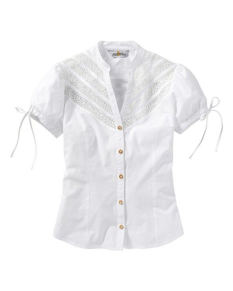 Almsach Bluse in Weiß