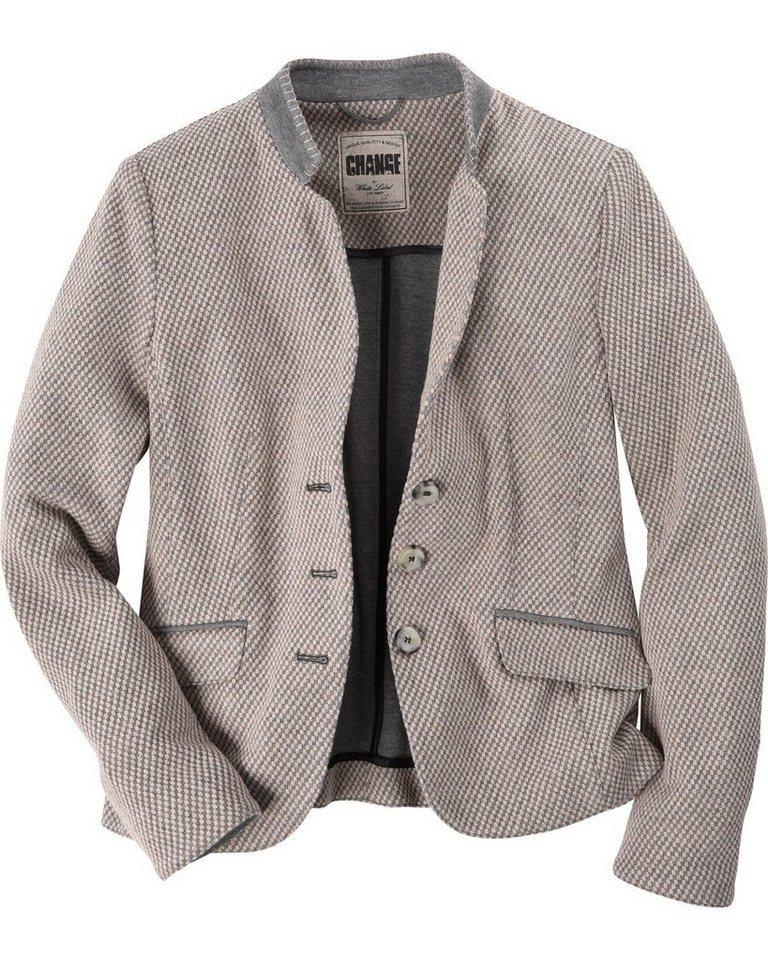 White Label Blazer in Beige/Grau