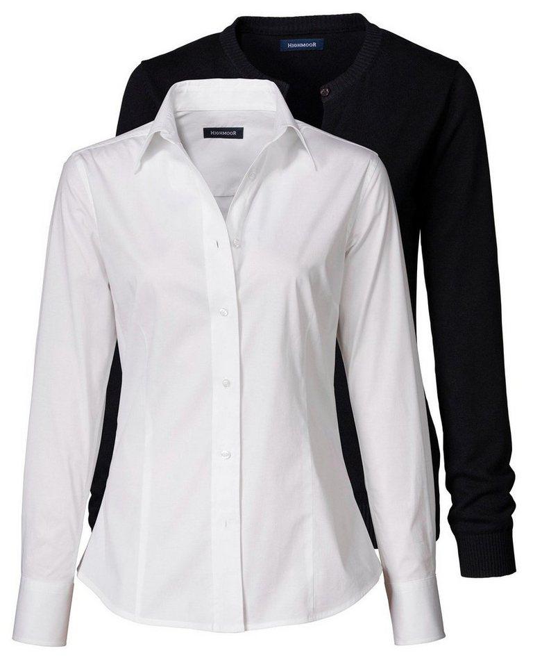 highmoor set aus cardigan und bluse online kaufen otto. Black Bedroom Furniture Sets. Home Design Ideas