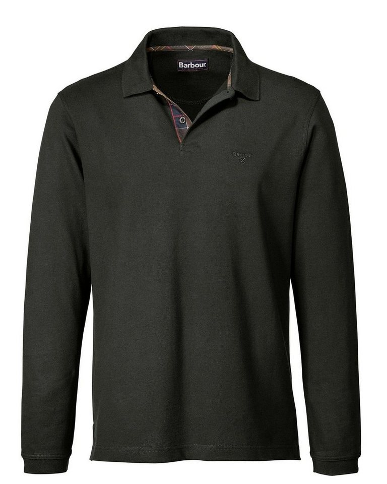 Barbour Langarm-Poloshirt Sports in Oliv