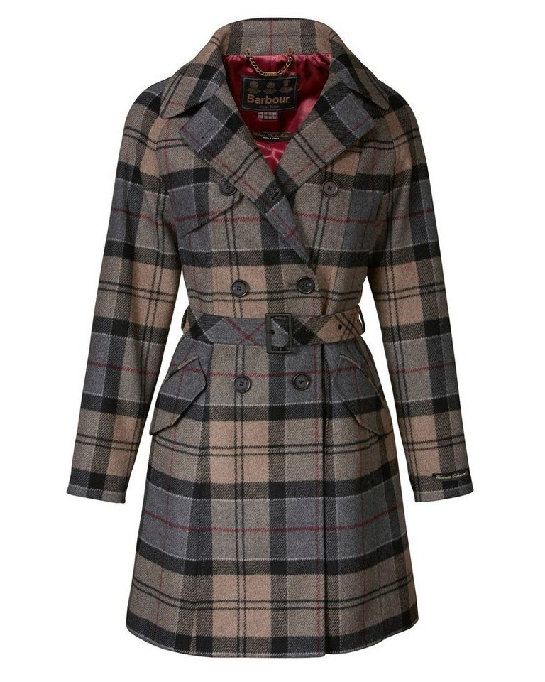 Barbour Wolltrench Dee in Grau