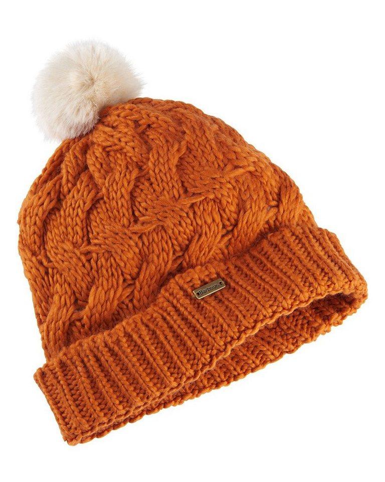 Barbour Mütze Fur Pom in Orange
