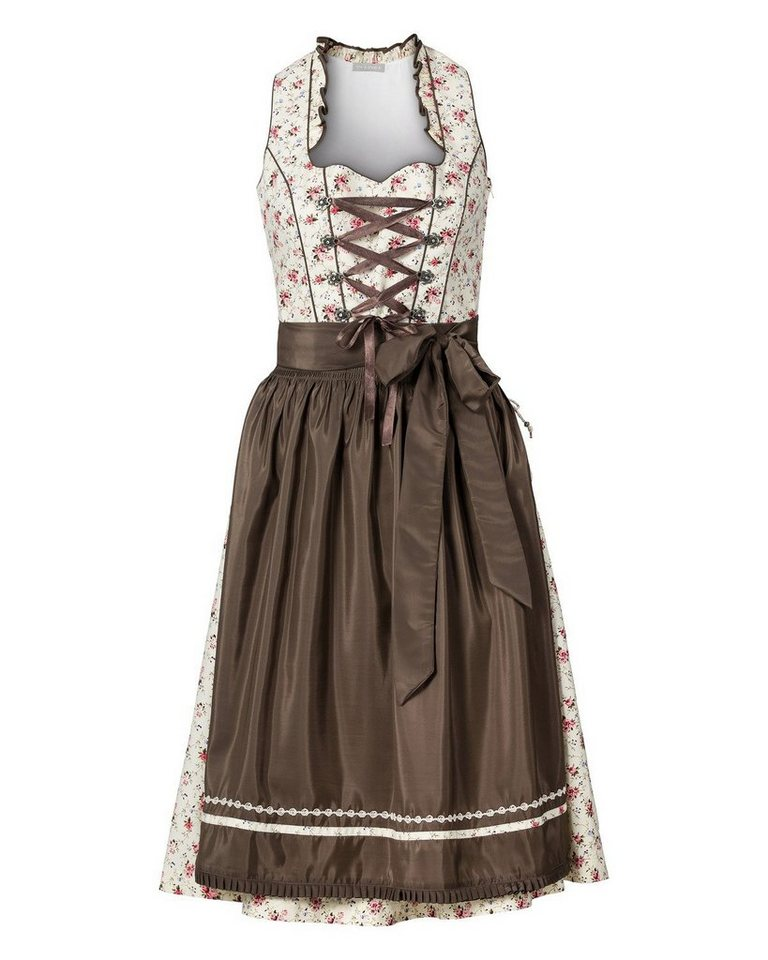 IN LINEA Midi Dirndl in Ecru/Oliv