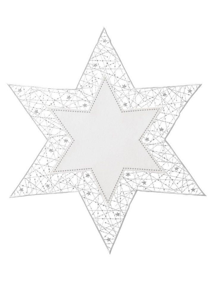 Platzset, 2-teilig in ecru/silberfarben