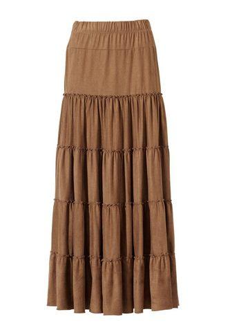 ASHLEY BROOKE BY HEINE Dirbtinės odos sijonas in Maxi ilgio