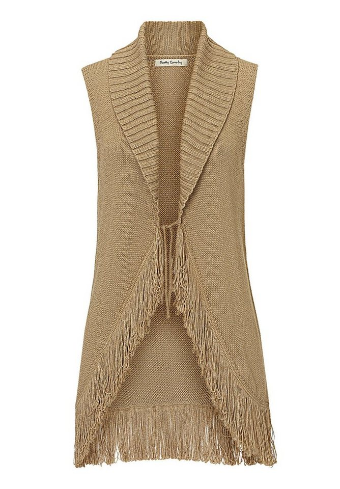Betty Barclay Beige Strickweste in Beige - Bunt