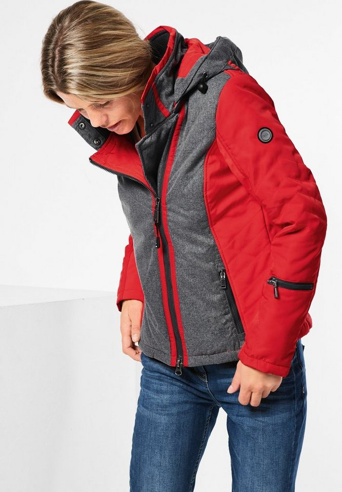 CECIL Jacke mit Thermometer in fire red