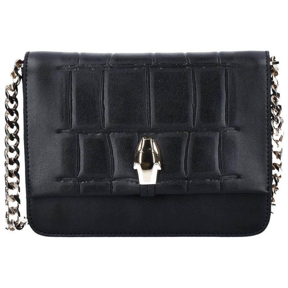 Roberto Cavalli Class Panthera4ever Mini Bag Umhängetasche Leder 18 cm in black